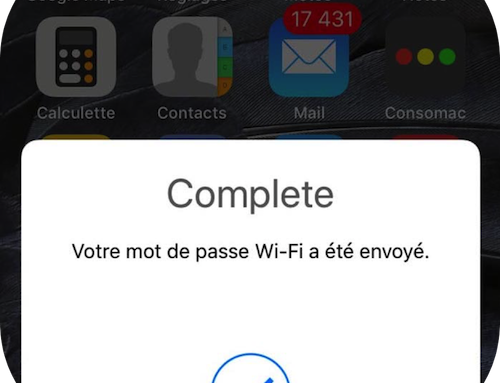 Partager facilement un mot de passe WiFi