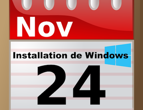 Date Installation de Windows