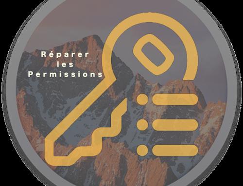 Réparer les permissions sous macOS Sierra